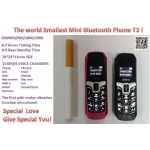 LONG-CZ T3 smallest thinnest mini mobile phone bluetooth 3.0 dialer Phone